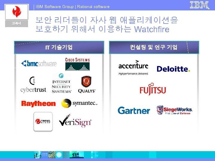 IBM Software Group   Rational software 고객사 ® 보안 리더들이 자사 웹 애플리케이션을 보호하기