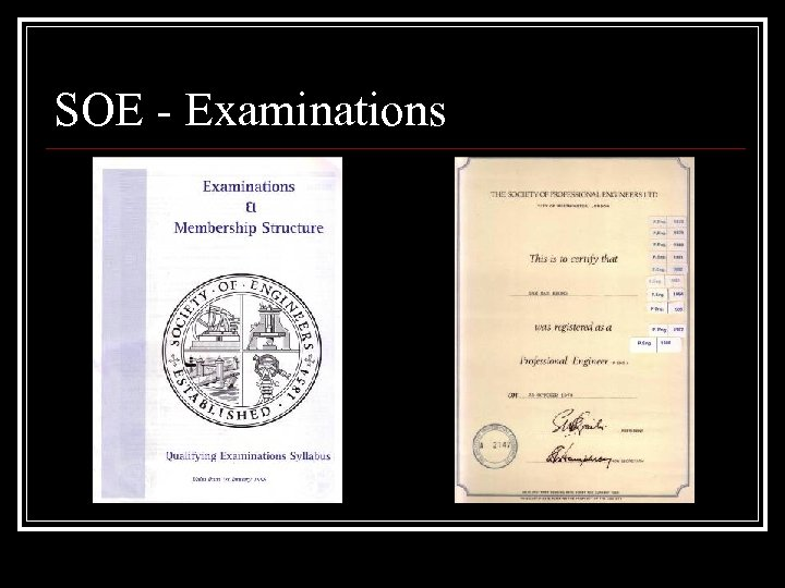 SOE - Examinations