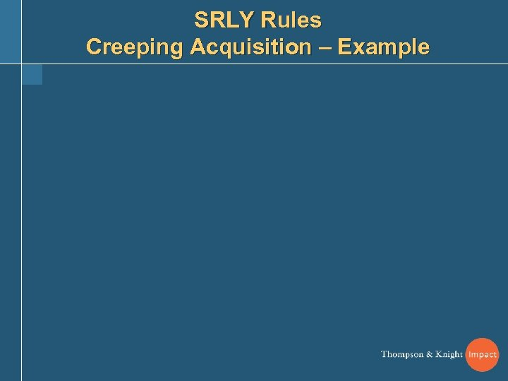 SRLY Rules Creeping Acquisition – Example