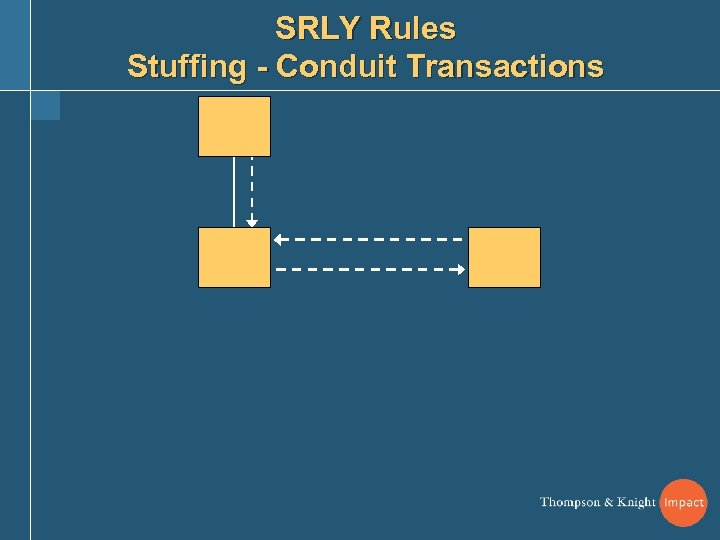 SRLY Rules Stuffing - Conduit Transactions