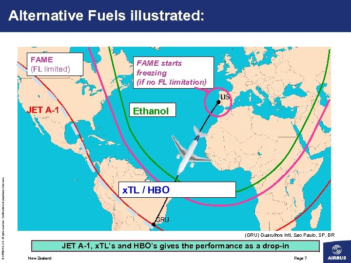Alternative Fuels illustrated: FAME (FL limited) © AIRBUS S. All rights reserved. Confidential and