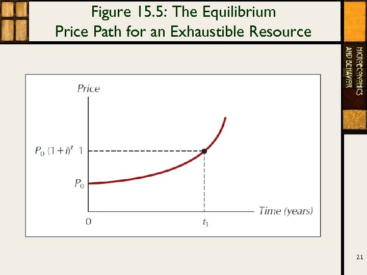 Figure 15. 5: The Equilibrium Price Path for an Exhaustible Resource 21