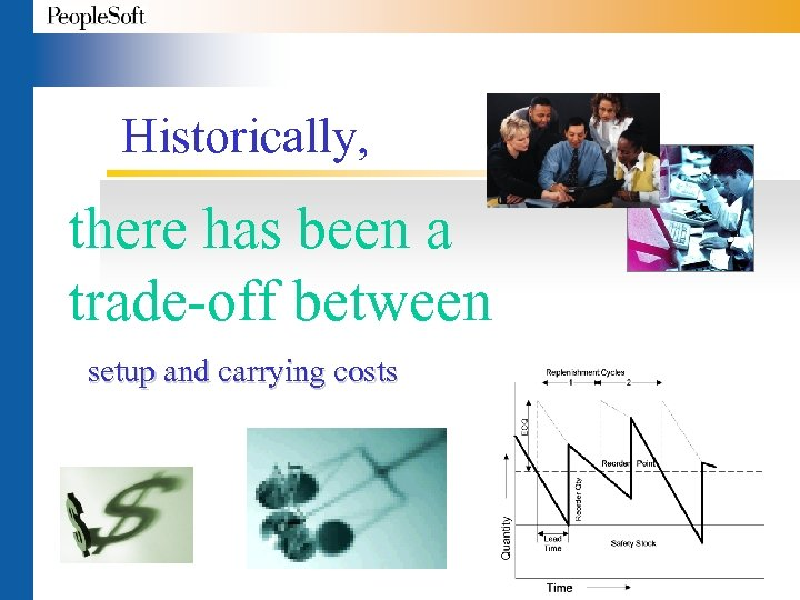 Historically, there has been a trade-off between setup and carrying costs