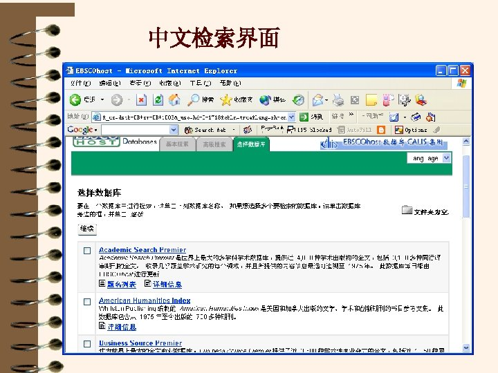中文检索界面