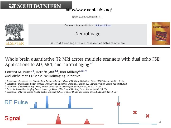http: //www. adni-info. org/ RF Pulse Signal ✖ ✖ ✖ 4