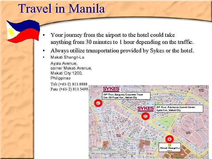 Travel in Manila • Your journey from the airport to the hotel could take