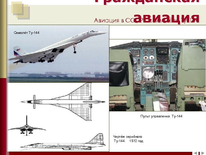 Гражданская Авиация в СССР: самолёты Ту-144 авиация Самолёт Ту-144 Самолёт Ил-12 Пульт управления Ту-144