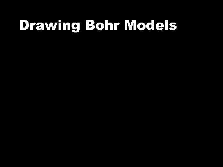 Drawing Bohr Models