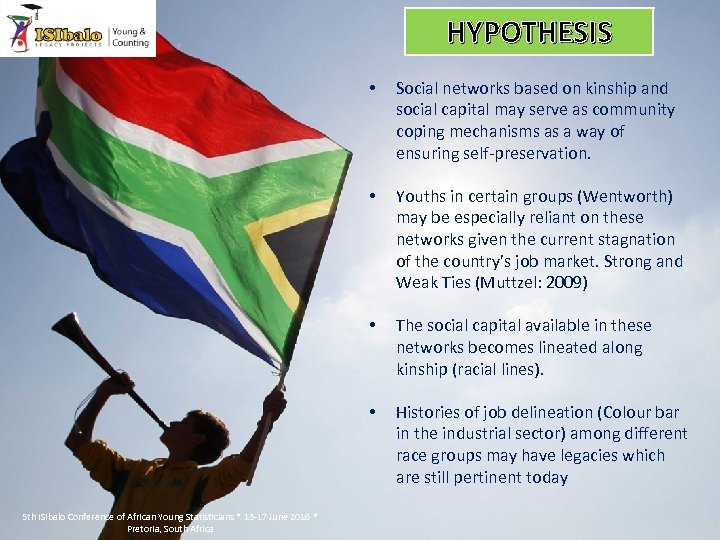 HYPOTHESIS • • Youths in certain groups (Wentworth) may be especially reliant on these