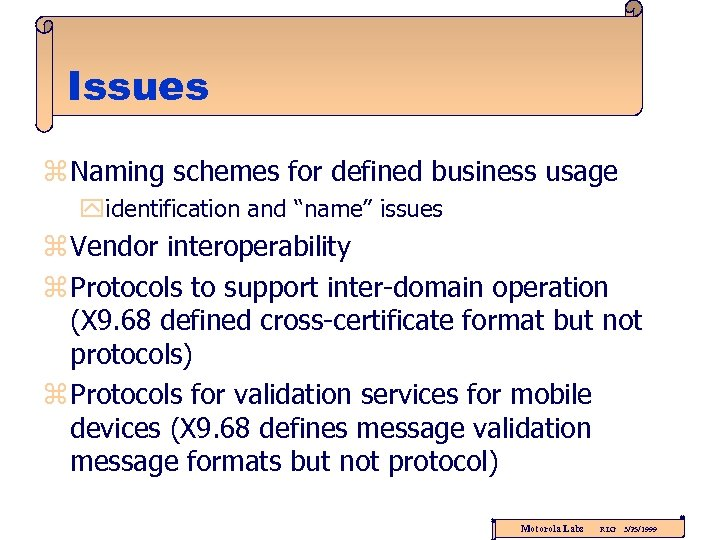 """Issues z Naming schemes for defined business usage yidentification and """"name"""" issues z Vendor"""