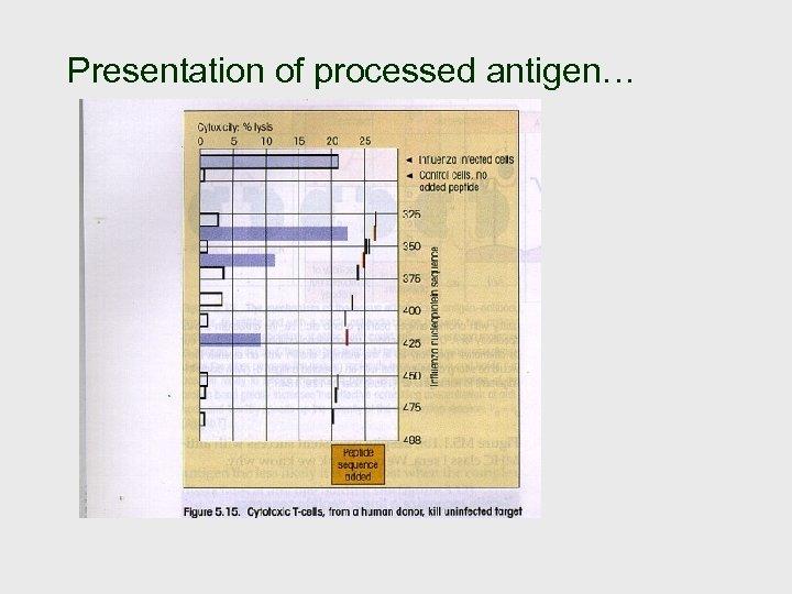 Presentation of processed antigen…