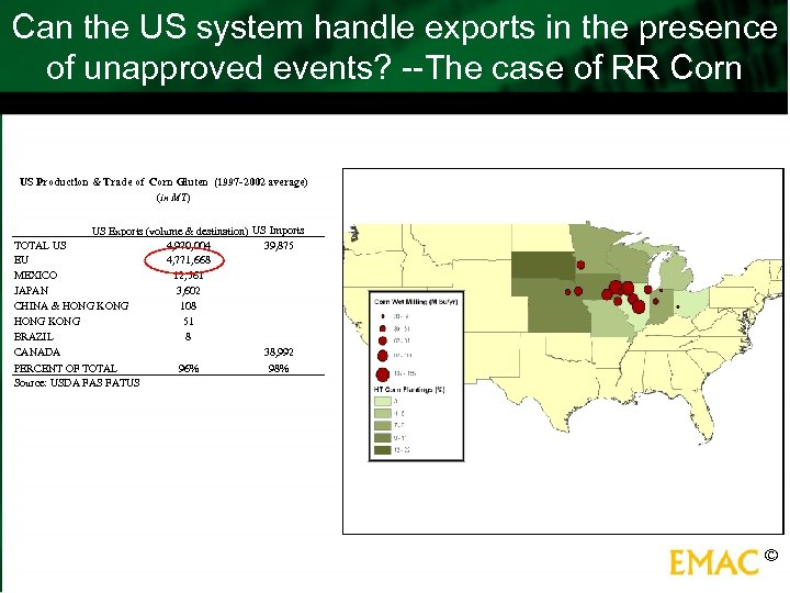 Can the US system handle exports in the presence of unapproved events? --The case