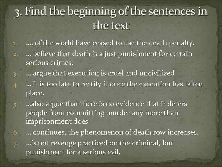 an overview of the topic of the capital punishment as the infliction of the death penalty Every now and then the topic of capital punishment, or the death penalty, becomes front and center in the public spotlight should this affect our view of capital punishment and does forgiveness by god mean the removal of consequences christians must know god's will in matters being debated.