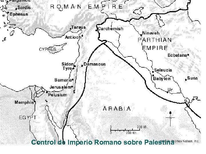 Control de Imperio Romano sobre Palestina