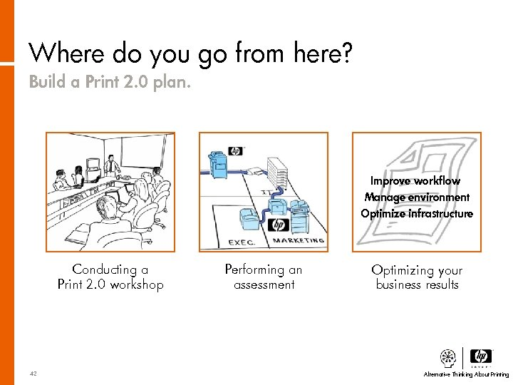 Where do you go from here? Build a Print 2. 0 plan. Improve workflow