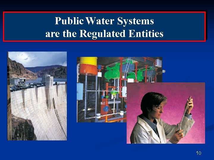 Public Water Systems are the Regulated Entities 10