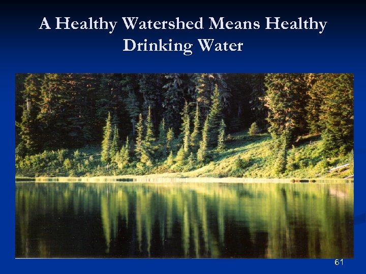 A Healthy Watershed Means Healthy Drinking Water 61