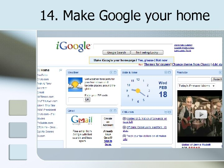 14. Make Google your home
