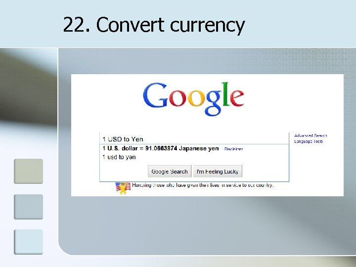 22. Convert currency