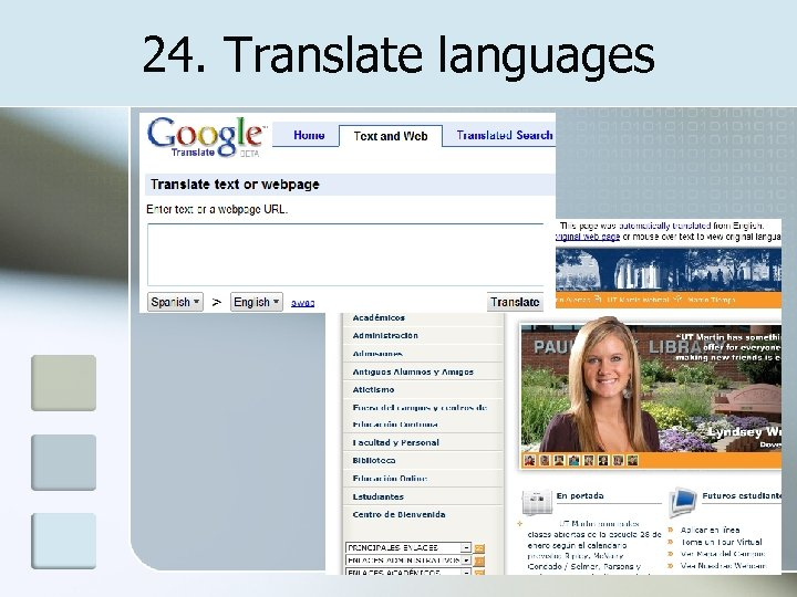 24. Translate languages