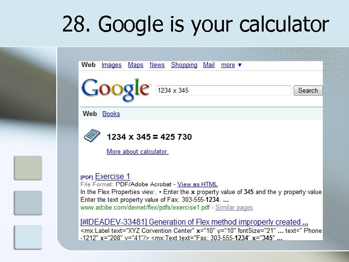 28. Google is your calculator