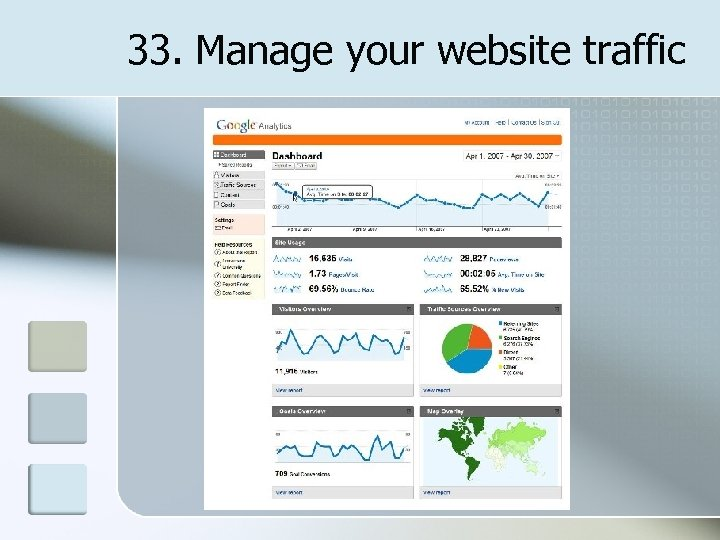 33. Manage your website traffic