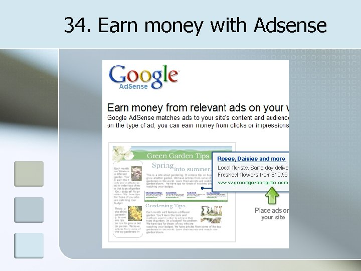 34. Earn money with Adsense