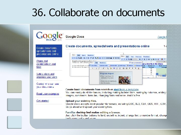 36. Collaborate on documents