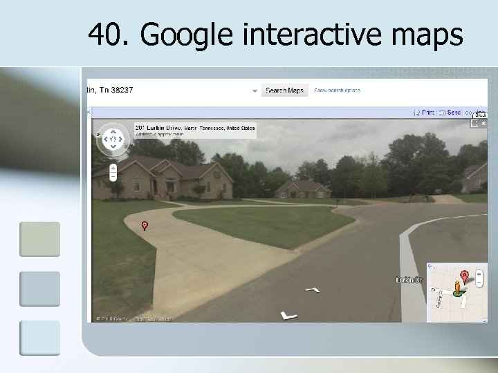40. Google interactive maps
