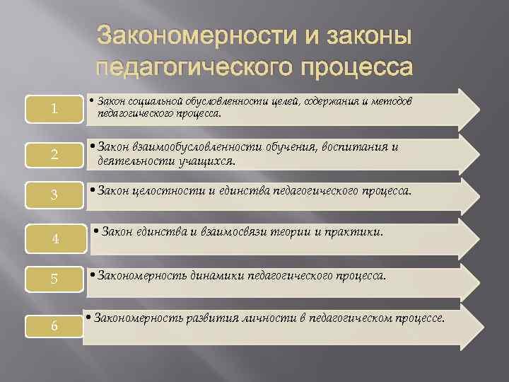 Закономерности И Принципы Педагогического Процесса Шпаргалка