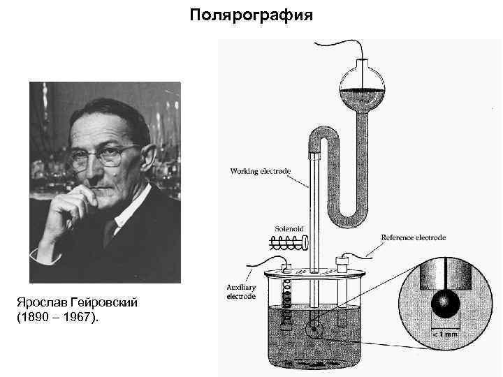 Полярография Ярослав Гейровский (1890 – 1967).