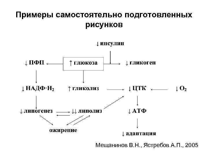 Примеры самостоятельно подготовленных рисунков Мещанинов В. Н. , Ястребов А. П. , 2005
