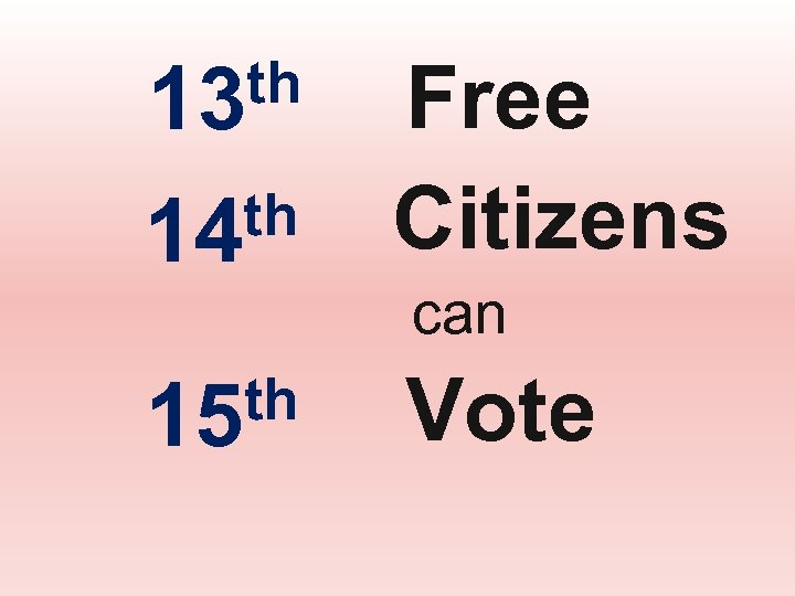 th 14 Free Citizens th 15 Vote th 13 can