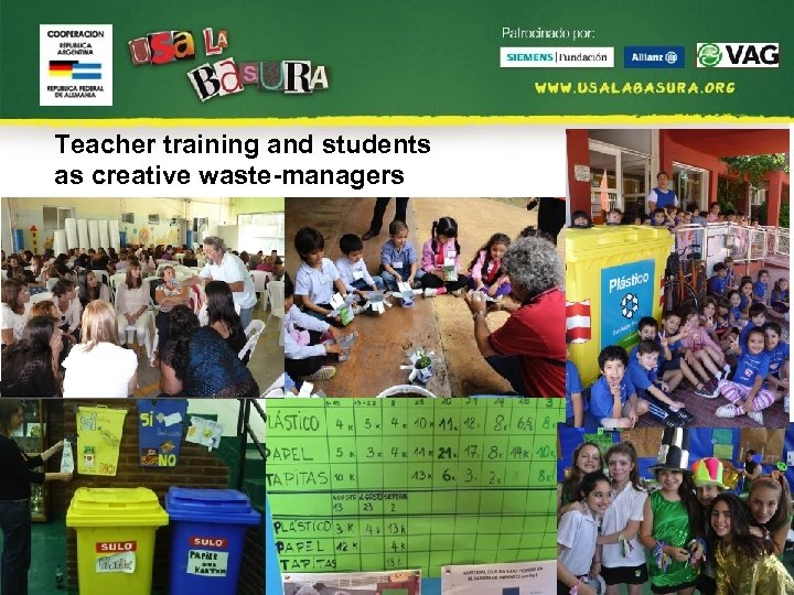 Teacher training and students as creative waste-managers