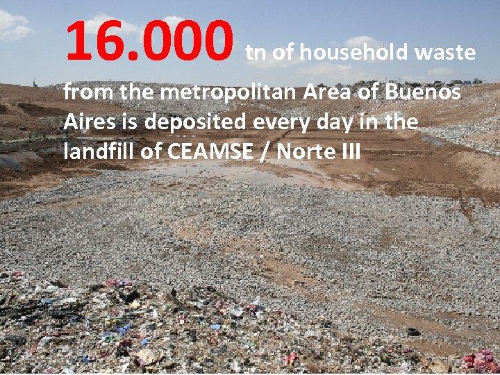 16. 000 ¿Qué hacemostn of household waste con la basura? from the metropolitan Area