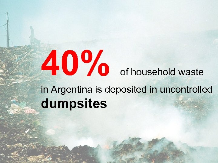 40% of household waste in Argentina is deposited in uncontrolled dumpsites
