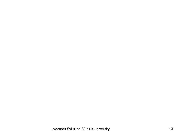Adomas Svirskas, Vilnius University 13