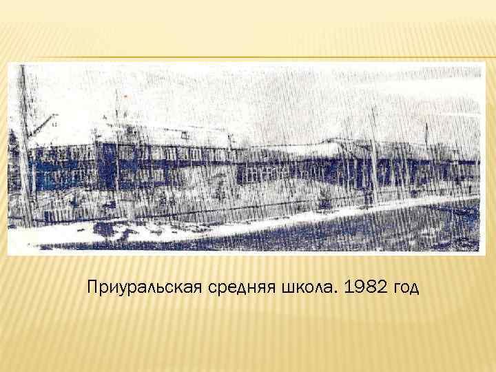 Приуральская средняя школа. 1982 год
