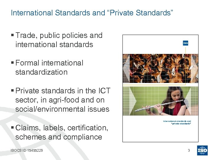 "International Standards and ""Private Standards"" § Trade, public policies and international standards § Formal"