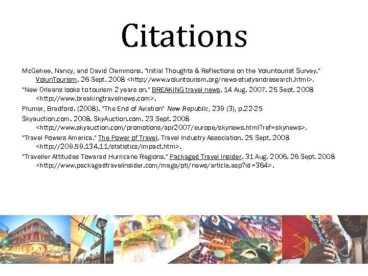 Citations Mc. Gehee, Nancy, and David Clemmons.