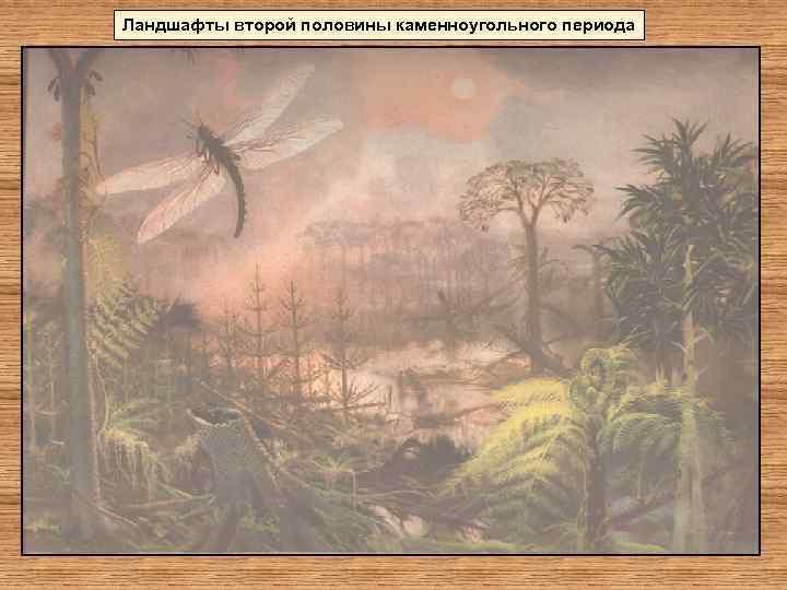 Ландшафты второй половины каменноугольного периода