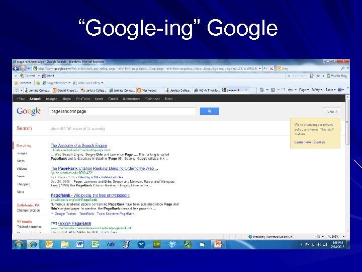 """""""Google-ing"""" Google"""