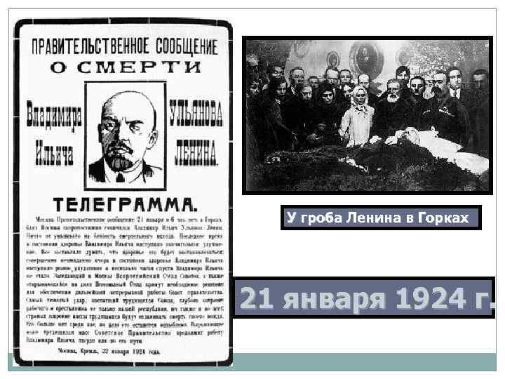 У гроба Ленина в Горках 21 января 1924 г.