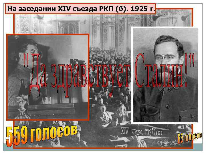 На заседании XIV съезда РКП (б). 1925 г.