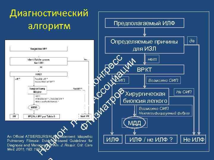 Диагностический алгоритм Предполагаемый ИЛФ ьн Ф ой II ти А К зи с он