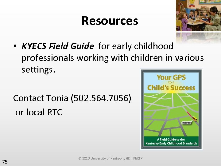 Resources • KYECS Field Guide for early childhood professionals working with children in various