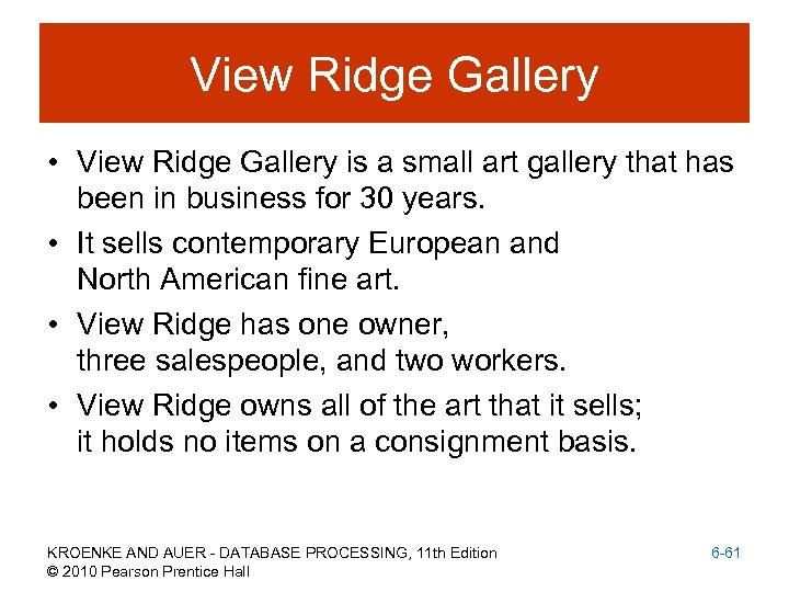 View Ridge Gallery • View Ridge Gallery is a small art gallery that has