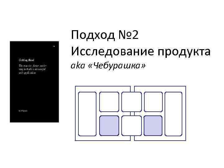 Подход № 2 Исследование продукта aka «Чебурашка»
