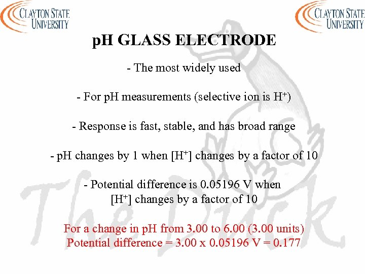 p. H GLASS ELECTRODE - The most widely used - For p. H measurements