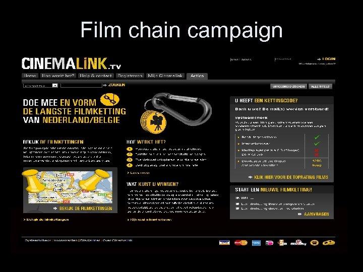 Film chain campaign